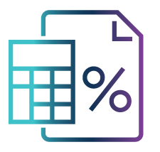 calculator and document icon