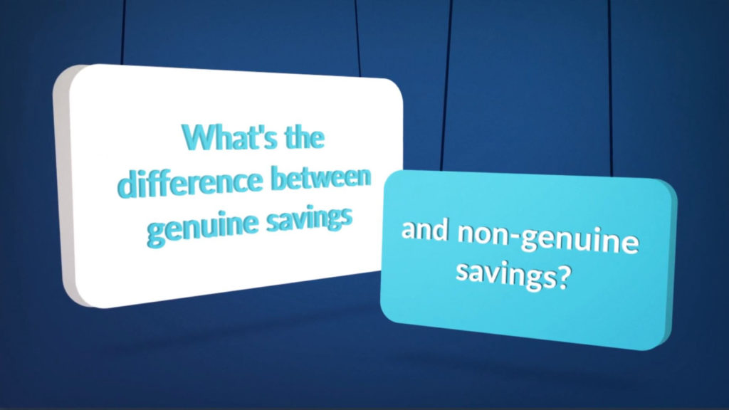 Genuine vs non genuine savings explained
